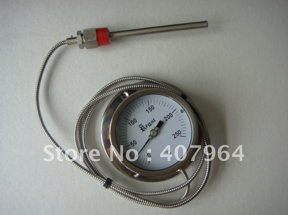 4 inch Capillary bimetal thermometer ,SS304,  0 C to 120C