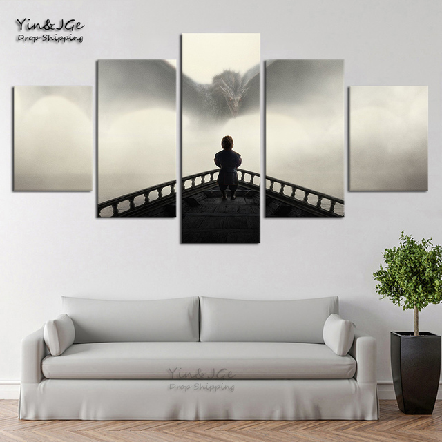 Home Decorative Modular Canvas Pictures HD Prints Posters 5 Pieces Game Of Thrones Painting For Living Room Wall Art Framework 1