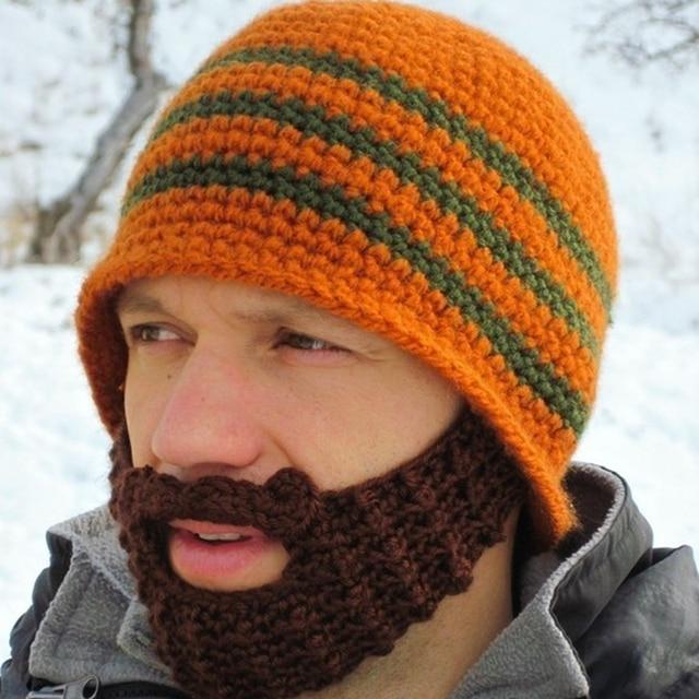 2016 Funny Creative Vikings Hand-Knitted Crochet Face Mask Rome Warrior  Knight Crochet Mustache Knitted Helmet Hat Hats Caps 173107cb08e