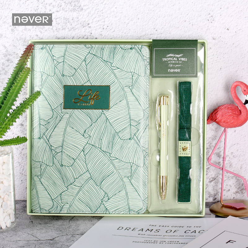 NEVER Plants Series Stationery Set Bts Accessories Teachers Gift Notebook Pen And Pen Holder Business Stationery Kit Supplies