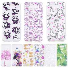 Cover For LG Q6 G6 V30 Case Cute Clear TPU Silicone Slim Panda Flower Back Animal For LG K4 K8 K10 Coque Transparent Cartoon(China)