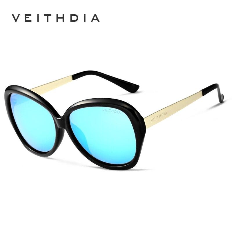 473ff0ce7d VEITHDIA TR90 gafas de sol de aleación para mujer lentes de espejo polarizadas  gafas de sol de diseñador de lujo para damas gafas de sol para mujeres  oculos ...
