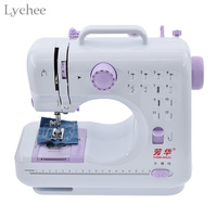 Lychee Mini Sewing Machine Multifunction Electric Replaceable Presser Foot Portable Knitting Machine Stitch Tool