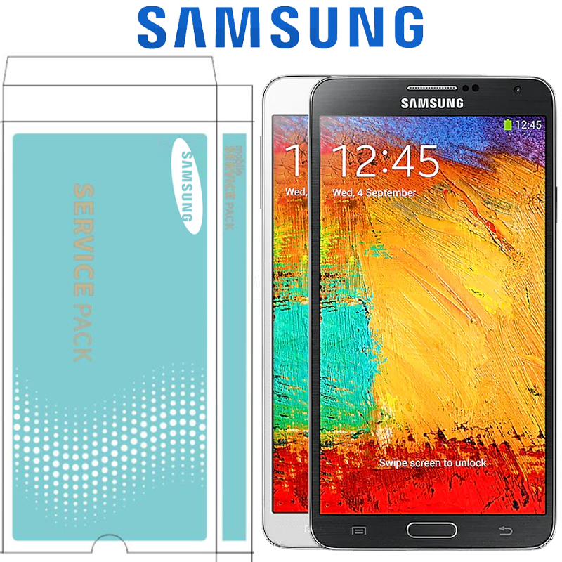 ORIGINAL SUPER AMOLED 5 7 LCD with Frame for SAMSUNG Galaxy Note 3 Note3 N9005 LCD