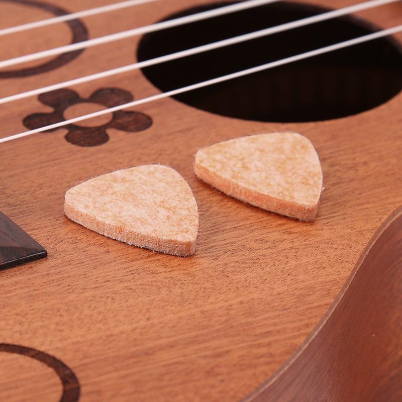 3MM Soft Hard Ukulele Wool Felt Picks Mandolin Guitar Plectrums 5pcs