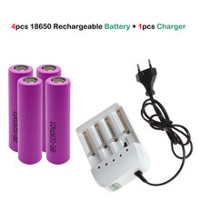 4PCS MJKAA 2600mHA Lithium Battery 3.7V Universal Charger  Model 18650 + A Four-cell