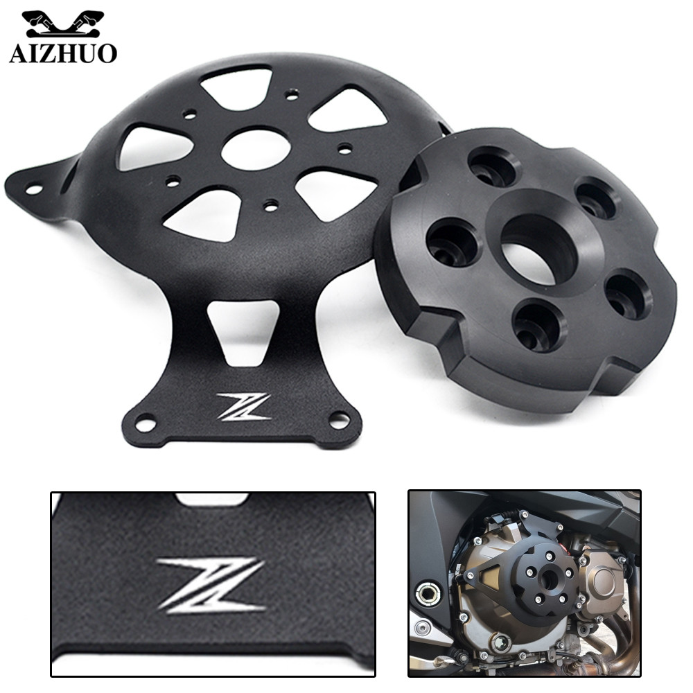 For KAWASAKI Z 800 Z800 Z750 2013 2014 2015 2016 Motorcycle Engine Stator Cover Engine Protective Cover Protector With Z LOGO motorcycle cnc aluminum engine crankcase slider engine cover saver protection side shield for kawasaki z800 z750 2013 2016