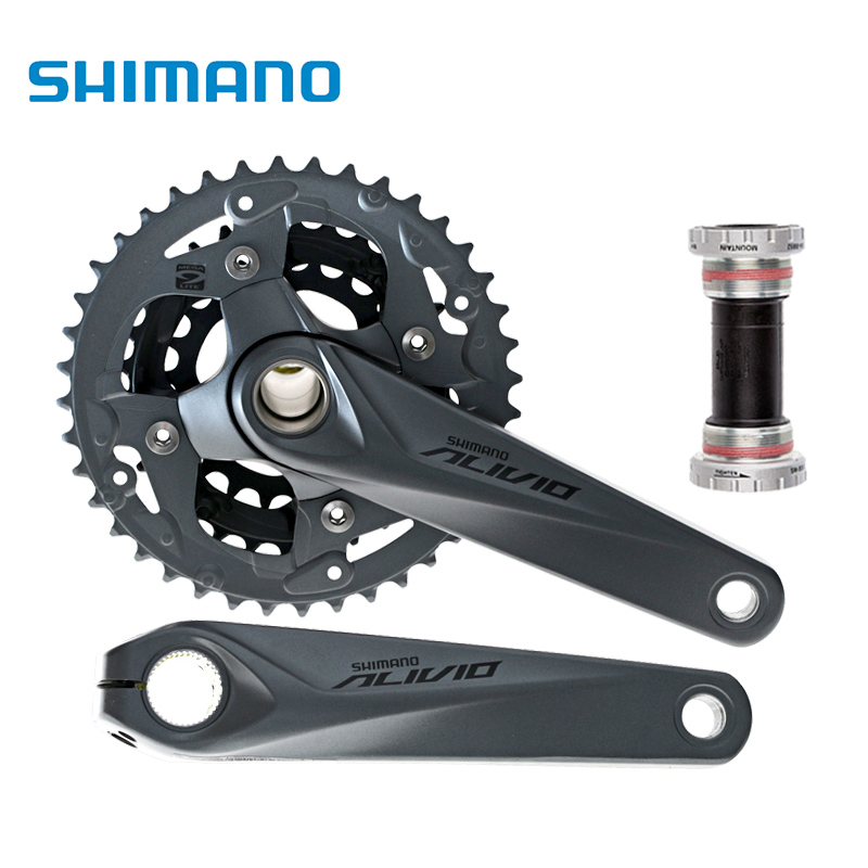 shimano Alivio m4050 Crank Crankset FC-M4050 with BB HollowTech bicycle parts калипер shimano m4050 гидравлический post mount без адаптера ebrm4050mpr
