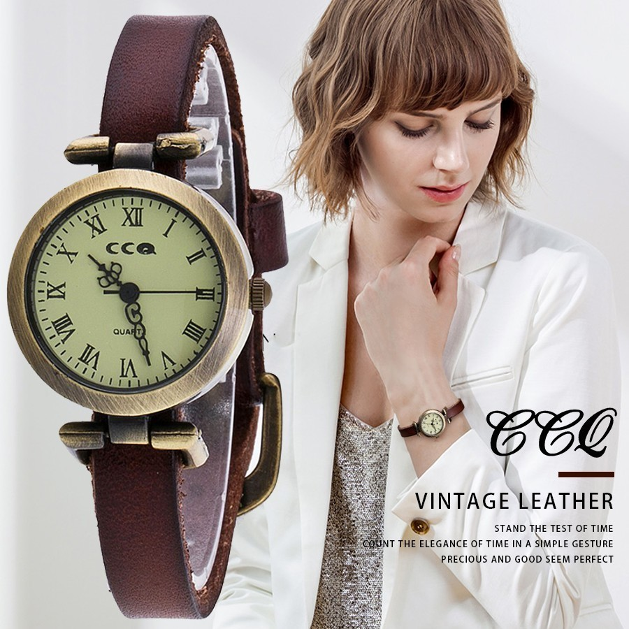 New CCQ Brand Popular Roma Popular Bracelet Vintage Watch Leather Women Wrist Watch Business Quartz Watch Gift Drop Shipping wireless service call bell system popular in restaurant ce passed 433 92mhz full equipment watch pager 1 watch 7 call button