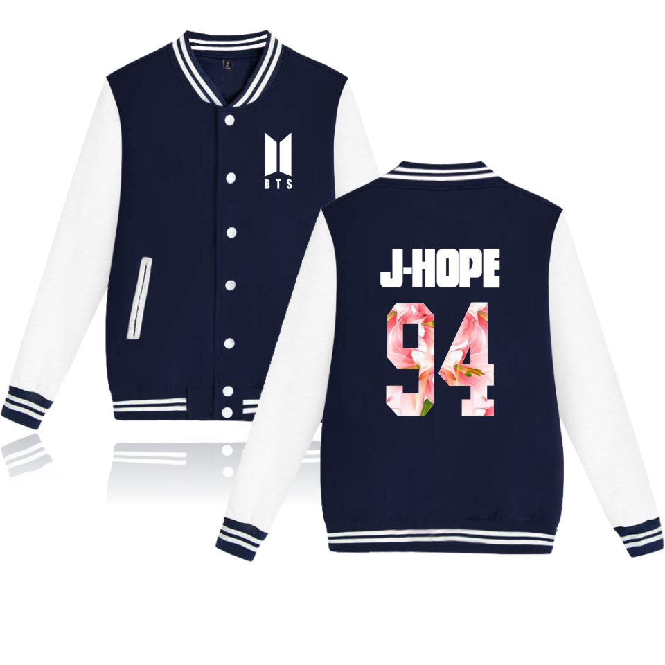 Popular Boy Band Coats BTS Kpop Baseball Jacket Harajuku Women Bangtan Cool Fans Club Sweatshirt Female Casual Jacket Clothes