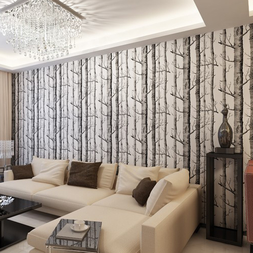 Tree Pattern Wallpaper Modern 3D Abstract Bedroom Sofa TV Background Wall Home Decoration Non-woven Embossed Woods Wall Paper popular large mural personality abstract modern art wallpaper sofa background ship nostalgia non woven wallpaper bedroom