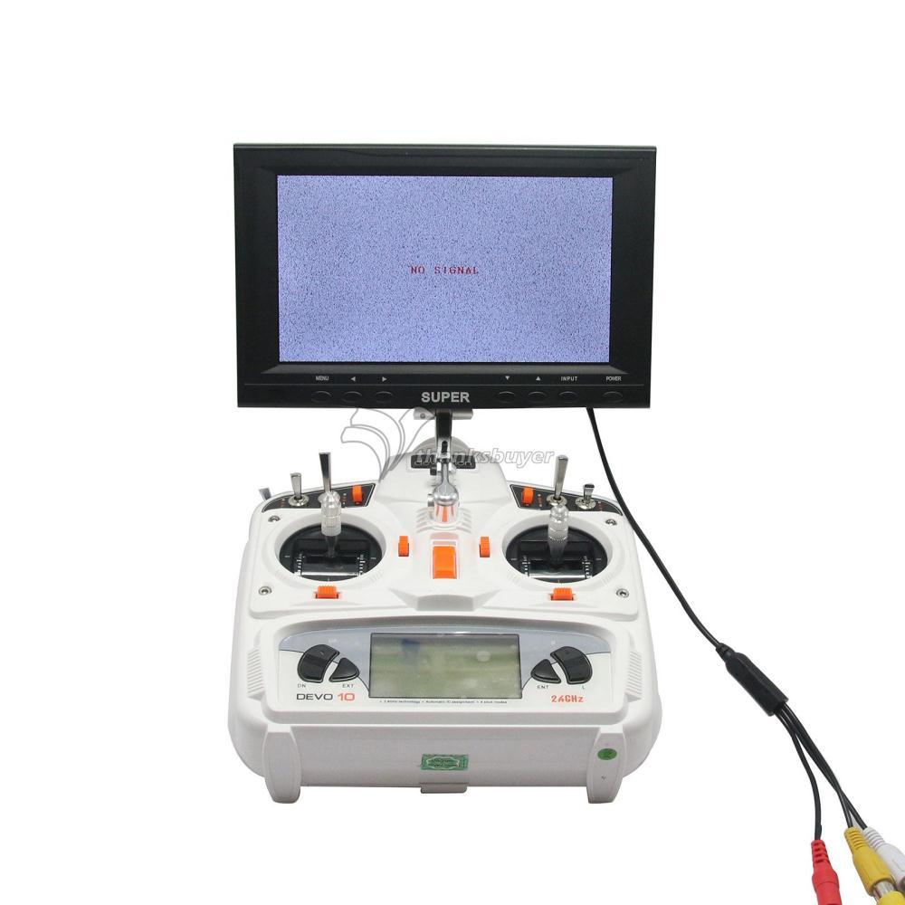 7inch HD Hightlight Monitor 1024 600 Car Use Monitor FPV LCD Display w Audio Snowflake Screen