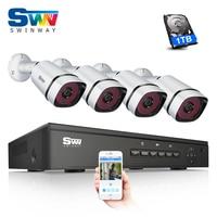 2017New 4CH POE NVR CCTV Camera System Onvif 1080P 2 0MP HD H 264 36 IR