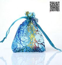 hot deal buy 500pcs 7*9cm bronzing heart organza gift bag wedding party decorations event party supplies