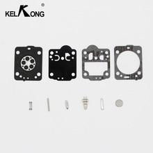 Kelkong kit de reconstrução carburador para motosserra husqvarna 235 236 gaxeta reparação diafragma para jonsered cs2234 cs 2238 zama carb kit