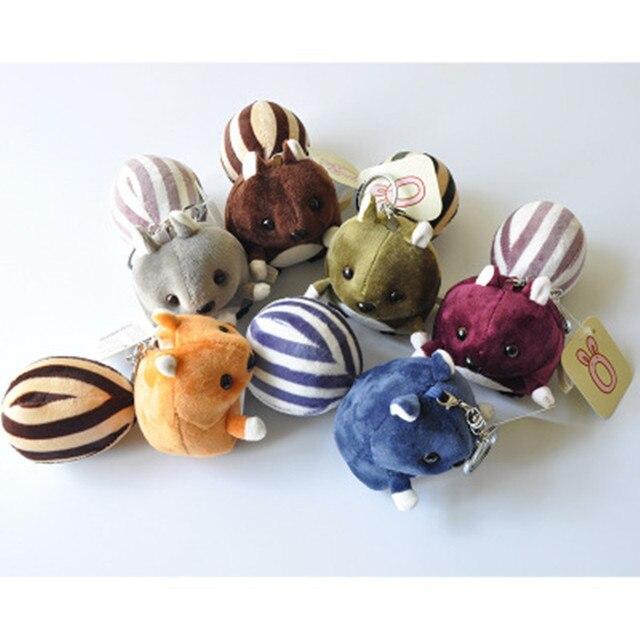 Kawaii 6Color-Pouco 12 CENTÍMETROS Esquilo de Pelúcia, Bichos de pelúcia boneca de brinquedo; Chaveiro Pingente Brinquedo De Pelúcia; buquê de casamento Presente de Brinquedos