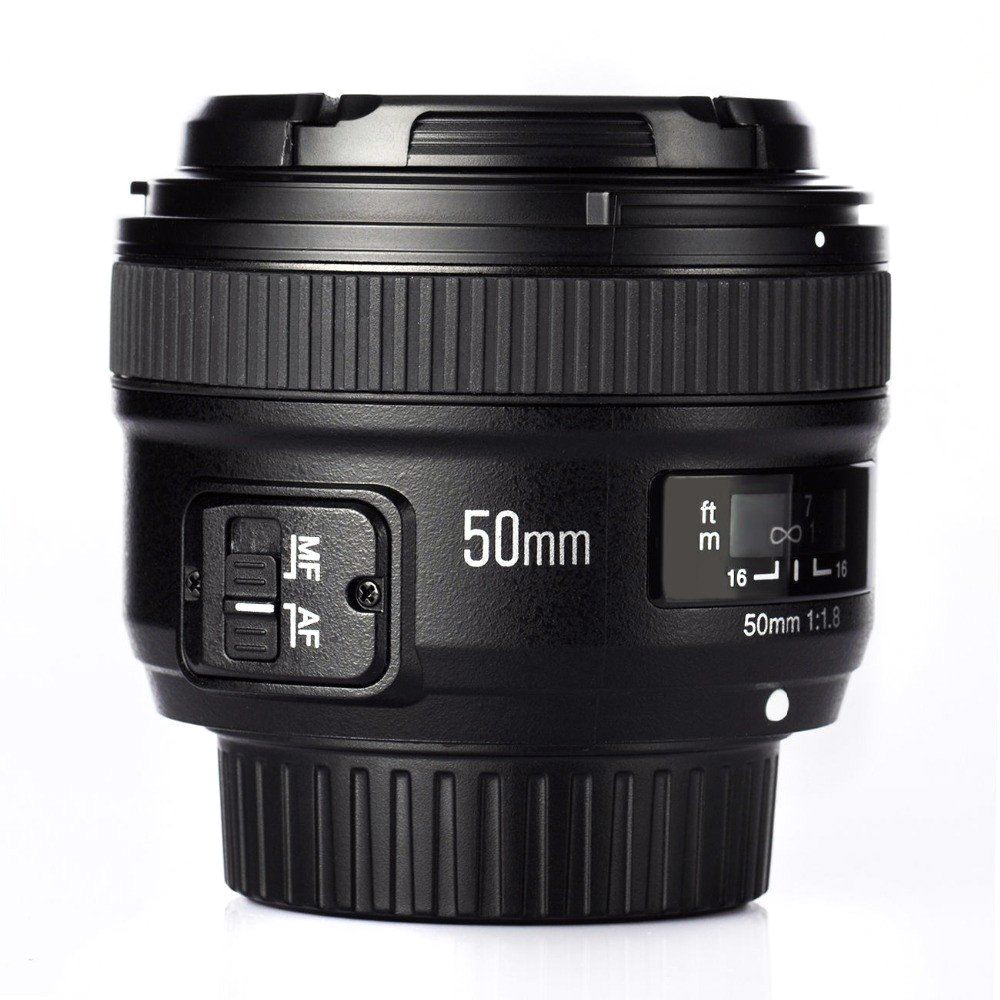 YONGNUO YN EF 50mm f/1.8 AF Lens YN50 Aperture Auto Focus for Nikon Cameras as AF-S 50mm 1.8G With EACHSHOT Cleaning ClothYONGNUO YN EF 50mm f/1.8 AF Lens YN50 Aperture Auto Focus for Nikon Cameras as AF-S 50mm 1.8G With EACHSHOT Cleaning Cloth
