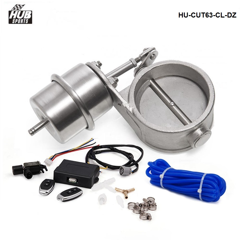 Vacuum Actuator CUTOUT With Exhaust Control Valve Set 2 5 63mm Pipe CLOSE STYLE and Wireless