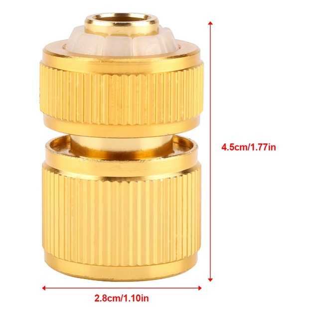 Drip Irrigation For Alloy Water Hose Connector Fitting Switch Nozzle Garden Pipe Quick Fit Adapter Tap Hose Connector