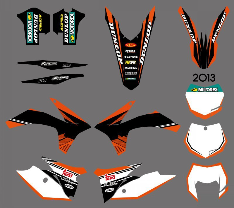 NEW STYLE TEAM STICKERS DECALS GRAPHICS WITH BACKGROUNDS FOR KTM 125 200 250 300 350 450 500 EXC 2012-2013 XC 2011 0584 new team graphics with matching backgrounds for ktm 125 200 250 300 450 500 exc xc w xcf w six days 2014 2015 2016