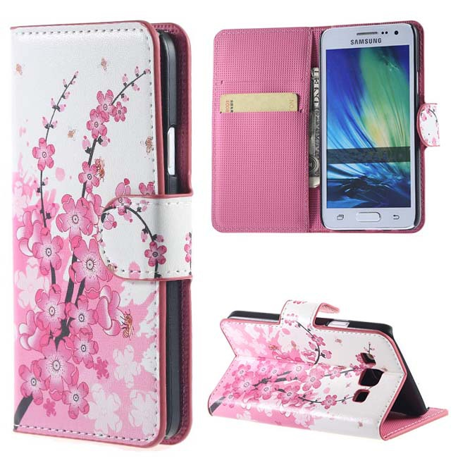 check out 59f52 f9a24 US $4.99 |Pink Plum Magnetic Leather Wallet Handbag Book Cover Case For  Samsung Galaxy J7 J700F J700 phone bags Cases coque funda -in Wallet Cases  ...