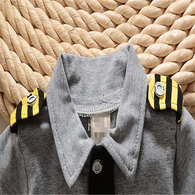 Newborn Baby Tactical Gear Clothing Set Pilot Clothes Cotton Military Uniforms