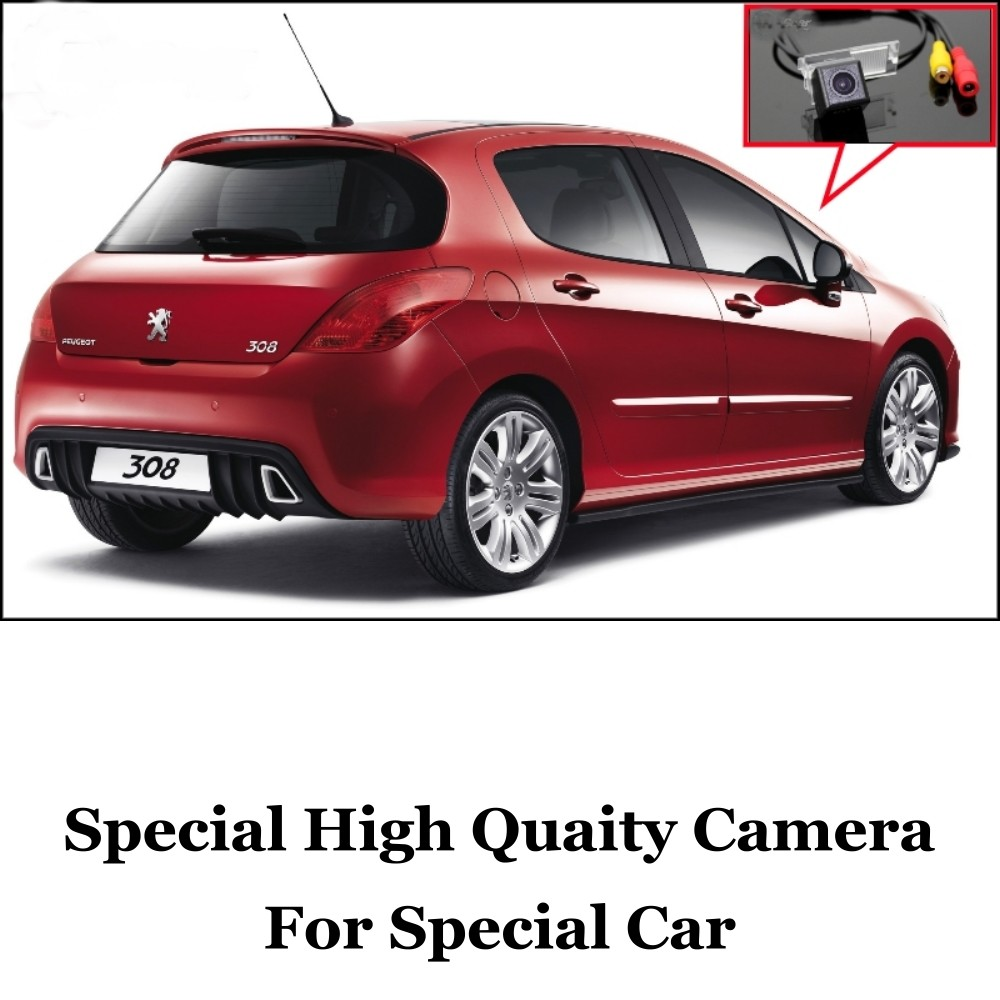 Car Camera For Peugeot 308  408  508 High Quality Rear View Back Up Camera Friends Use  CCD + RCACar
