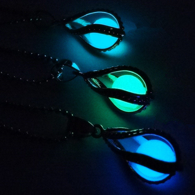 Women Water Drops Shape Moonlight Luminous Pendant  1