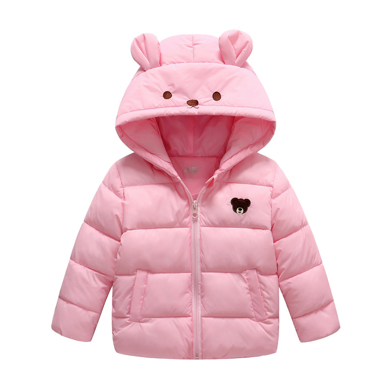 2017 New Kids Winter Coat Girls Down Jacket Duck Down Filling Infant Overcoat Toddler Lightweight Parka 3-9Y Pink Red Blue Green 3 color red pink blue cherry cardigan coat