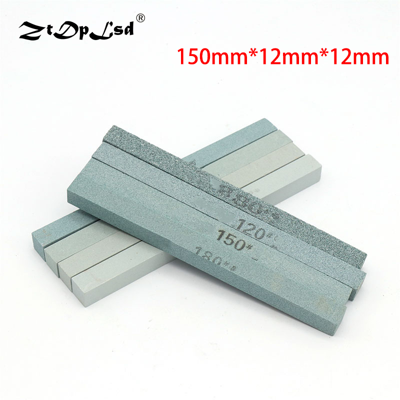 1Pc 150X12MM 80-1200 Grit Oil Stone Green Silicon Carbide Sand Bar Abrasive Square Jade Knife Sharpener Sharpening Silicone Fine