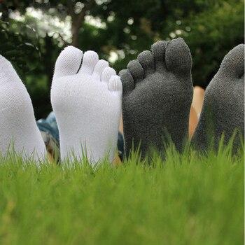 цена 1 pair Breathable Crew Unisex Men Women Socks Cotton Sports Ideal For Five 5 Finger Toe Shoes Sale solid socks men онлайн в 2017 году