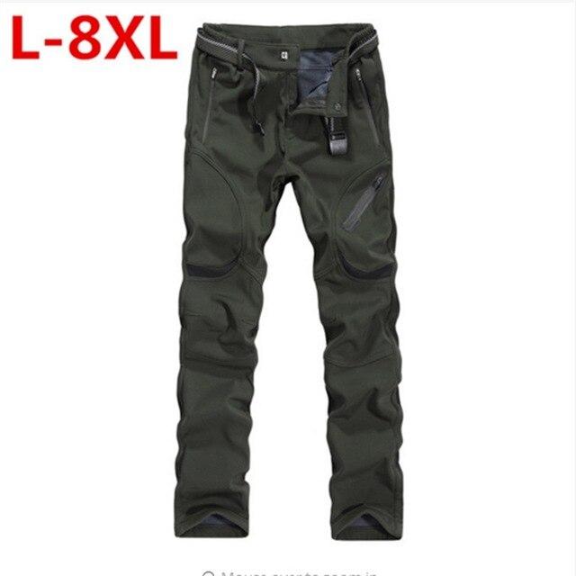 Для мужчин s зимние штаны толстые теплые брюки-карго Повседневная Верхняя одежда карманов Брюки плюс Размеры 9XL8XL Модные свободные мешковат... ...