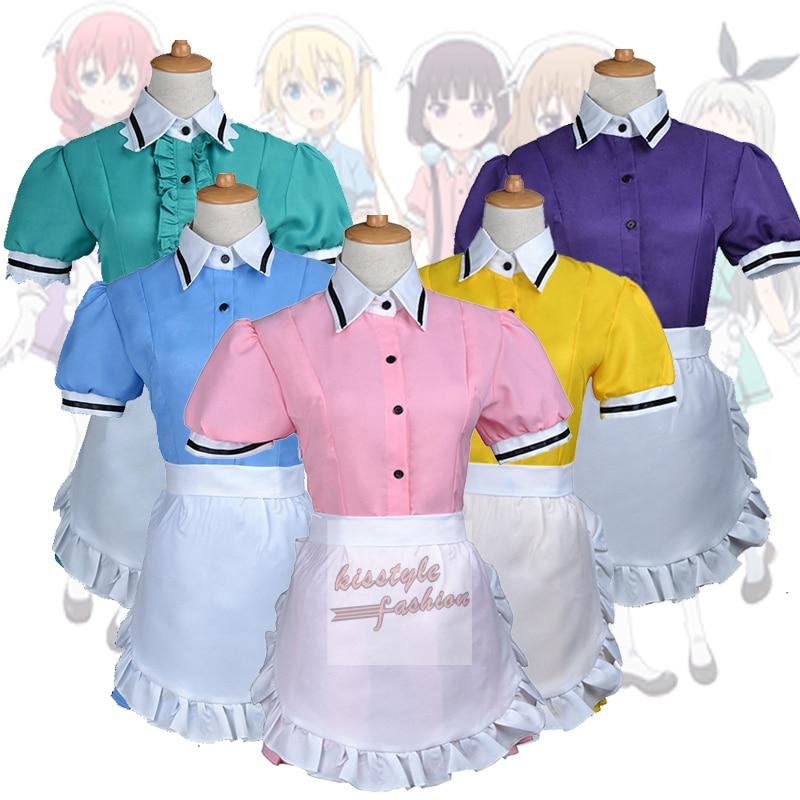 Blend S Maika Sakuranomiya Kaho Hinata Mafuyu Hoshikawa Miu Amano Hideri Kanzaki Maid Dress Uniform Women Girl Cosplay Costume(China)