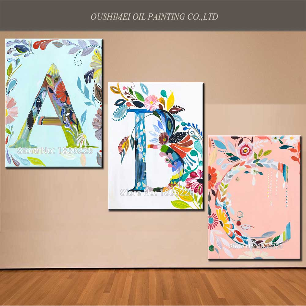 Ideas For Painting On Canvas New Fabric Designs Letters Oil Paintings Cheap Bedroom