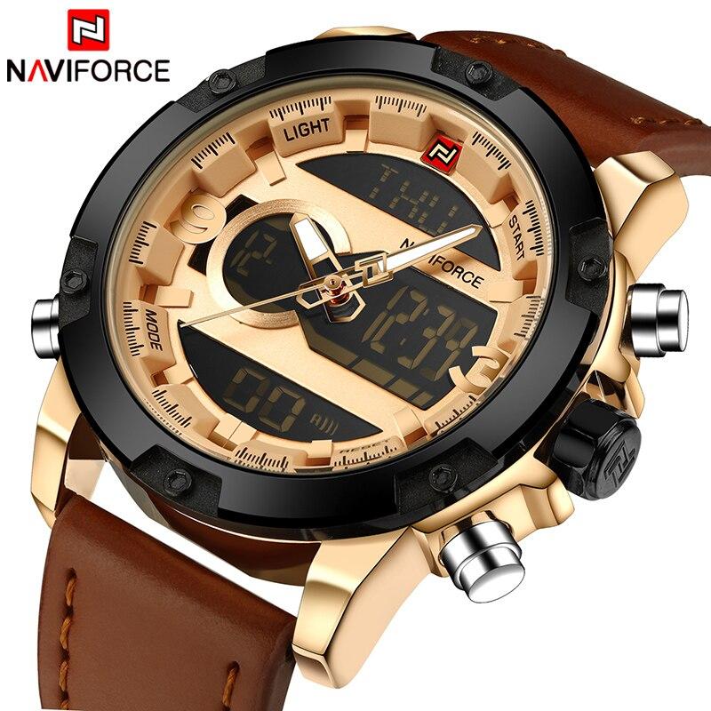 Top Luxury Brand NAVIFORCE Men Sport Wats