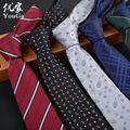 tie 7 cm brand Polyester ties for men  corbatas gravata slim formal social event green wedding dress lot