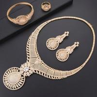 Missvikki роскошный золотой дизайн стильный круглый кулон индийский нигерийский комплекты украшений для женщин юбилей вечерние ювелирные изде