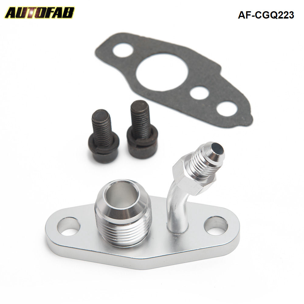 M8 x 1.25 Turbo Oil Return Feed /& Drain Flange For TOYOTA CT9 CT12 CT20 CT26 4AN