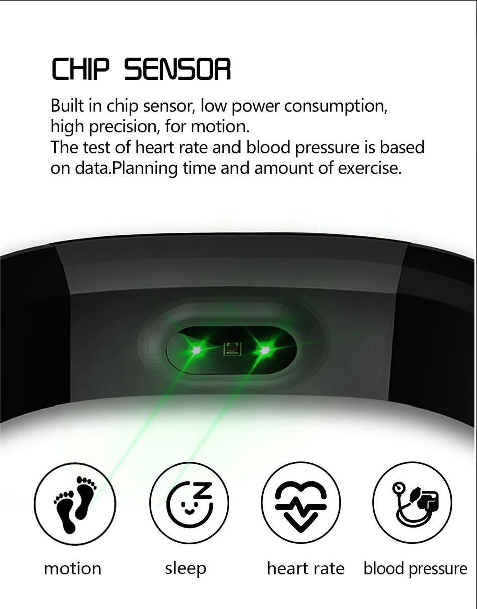 Fitness Tracker bracelet pressure measurement pedometer Smart band Heart rate monitor IP68 Waterproof smartwatch For Android ios xiaomi band 06