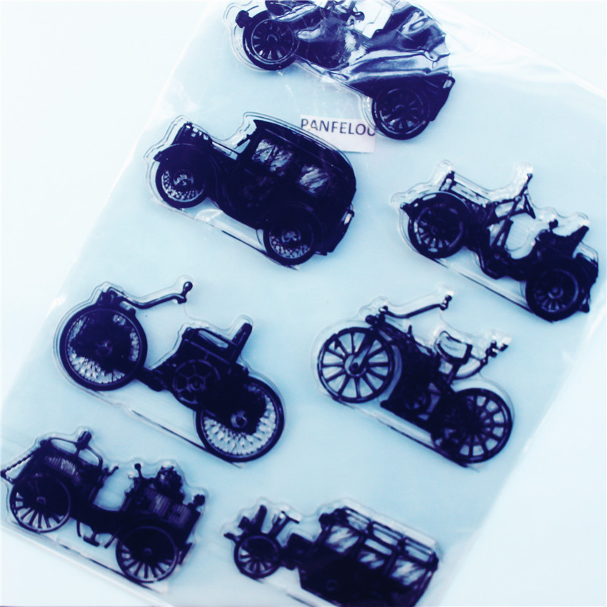 Rubber Roller Black truck Transparent Clear Clear stamp Silicone Seal DIY Scrapbooking photo Album Decorative  Sheets japanese korea stationery portable mini roller secrecy stamp garbled seal graffiti seal teacher secrecy stamp