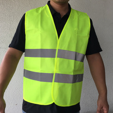 High visibility waistcoat reflective safety vest motorcycle jacket construction worker fluorescent warning wear One size