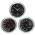 Brand New 3 Pcs/Set Car Styling 4CM Black Cool Quartz Watch Hygrometer Thermometer Temperature Time Air Humidity Measurement