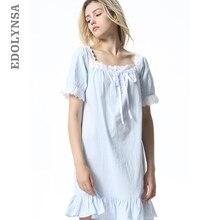 94de4adf0f Summer Sleep Wear Night Shirt Home Dress White Cotton Nightgown Nightwear  Women Plus Size Sleepwear Plain