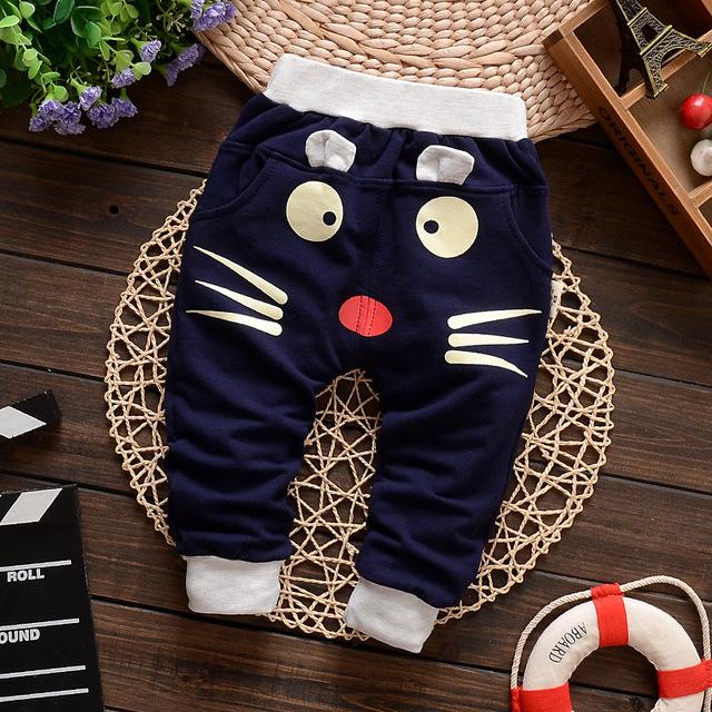 2017 otoño invierno del bebé pantalones niños pantalones nuevo 100% del bebé del algodón legging niña niño recién nacido ropa de bebe
