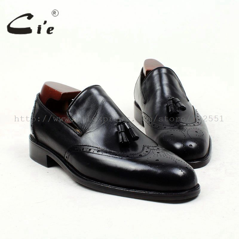 cie Free Shipping Handmade Tassels Round Toe Full Brogues Slip-on Loafer Calf Leather Men Shoe Leather Bottom BreathableLoafer79 cie free shipping handmade tassels buckle loafer brown white matching calf leather bottom outsole men shoe 3 crafts loafer66