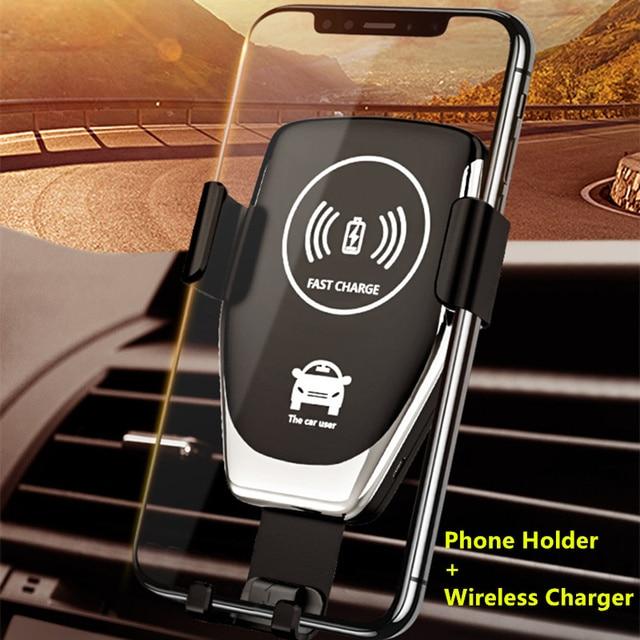Do montażu na uchwyt na telefon do telefonu w samochodzie ładowarka 360 nie magnetyczny telefon stojak na iPhonea Samsung S10 Plus Xiaomi stojak na telefon Air Vent