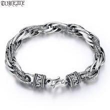 100% Серебро 925 пробы браслет цепочка винтажный мужской из