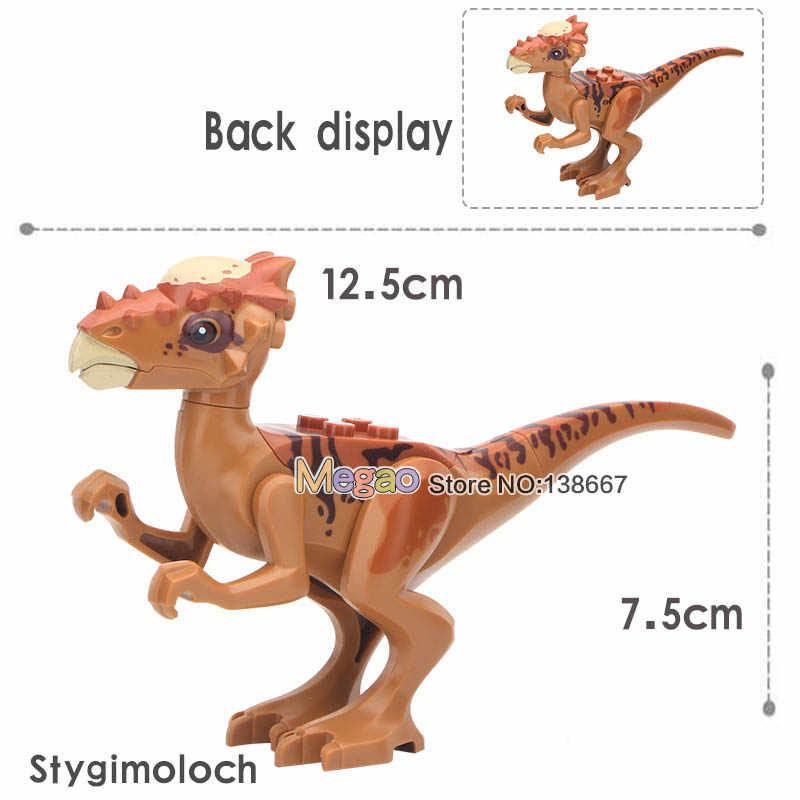 Singola Vendita Jurassic Velociraptor Dinosauri Animali T-Rex Building Blocks Bambino Regalo Giocattoli Bambola giocattoli