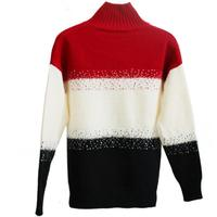 2018 new autumn and winter thick loose stripe sweater knitwear women