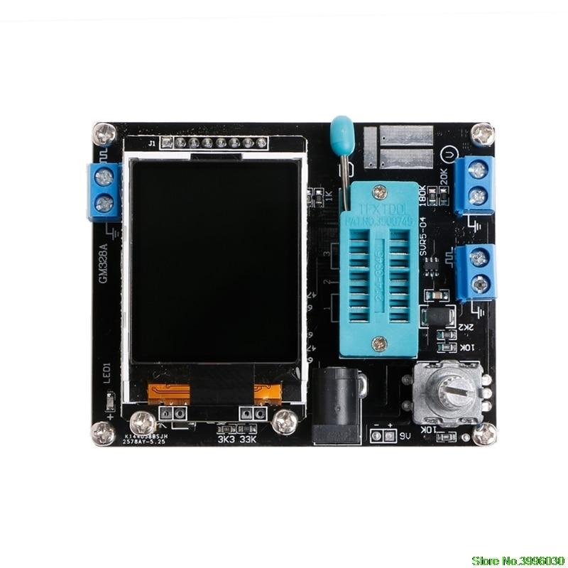 M328 DIY Transistor Tester LCR diodo de capacitancia ESR medidor de señal PWM generador